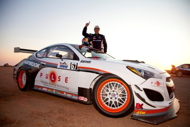 Rhys Millen Wins 2WD Time Attack Class at 2012 Pikes Peak Hill Climb in RMR Genesis Coupe