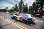 The Peugeot 208 T16 during test Sessions Pikes peak