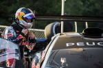 Sébastien Loeb and the Peugeot 208 T16 Pikes Peak during test Sessions