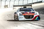 Sebastien Loeb Performs during the test session with the Peugeot 208 T16 in pikes peak raceway in Colorado