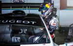 Sebastien Loeb during the test session with the Peugeot 208 T16 in pikes peak raceway in Colorado, USA