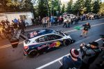 The Peugeot 208 T16 Pikes Peak on the starting line during  tests  in Pikes Peak