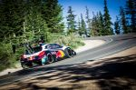 Sebastien Loeb return at base during the qualification session with the Peugeot 208 T16 pikes peak