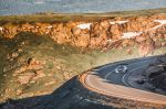 Sebastien Loeb performs during the free tests of the Pikes Peak International Hill Climb at Pikes Peak
