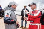 Sebastien Loeb and Jean-Philippe Dayraut at the Pikes Peak international hill climb race
