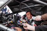 Sebastien Loeb on arrival of the Pikes Peak international hill climb race with the Peugeot 208 T16 pikes peak