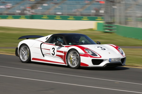 Porsche 918 Spider at Australian F1 Grand Prix