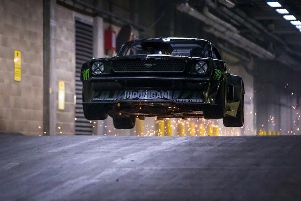 Ken Block Hoonicorn Mustang on Topgear