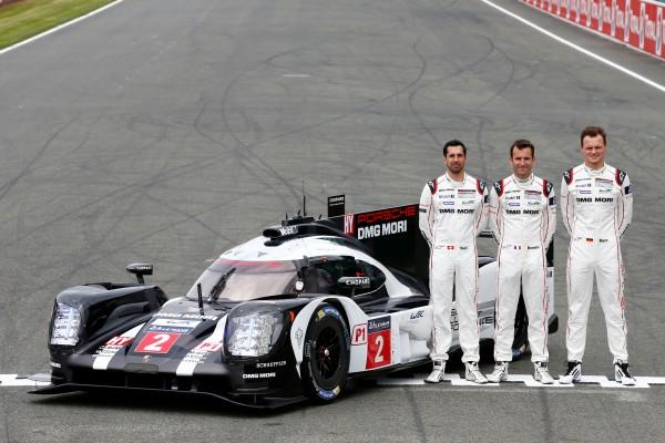 Porsche 919 Hybrid, Porsche Team: Neel Jani, Romain Dumas, Marc Lieb (l-r)