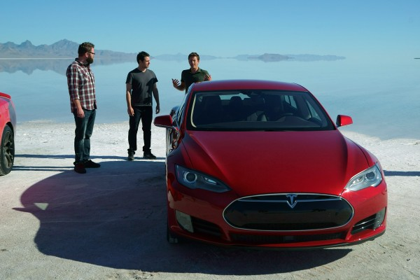 Picture Shows: Tanner Foust explains his choice to Rutledge Wood and Adam Ferrara