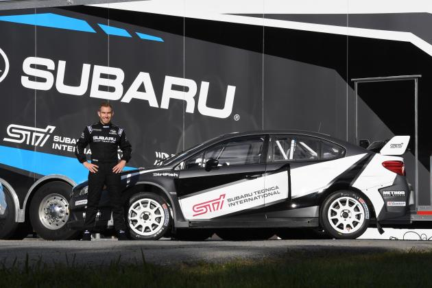 Chris Atkinson and his Rallycross Subaru