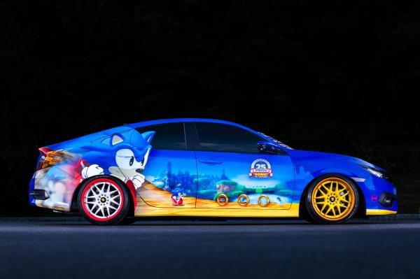 "Honda Debuts Custom-Designed ""Sonic Civic"" at Comic-Con; Joi"