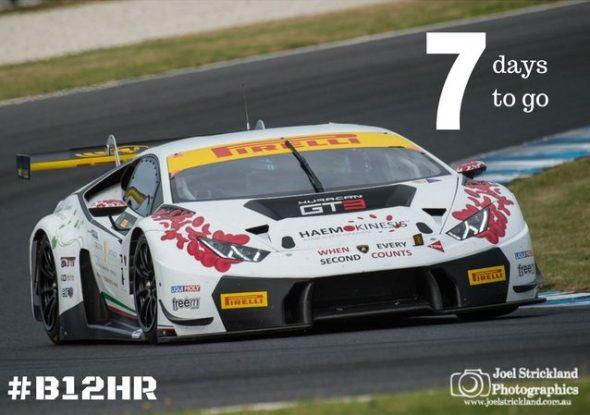 Trofeo motorsport lamborghini Huracan testing before Bathurst 12hr